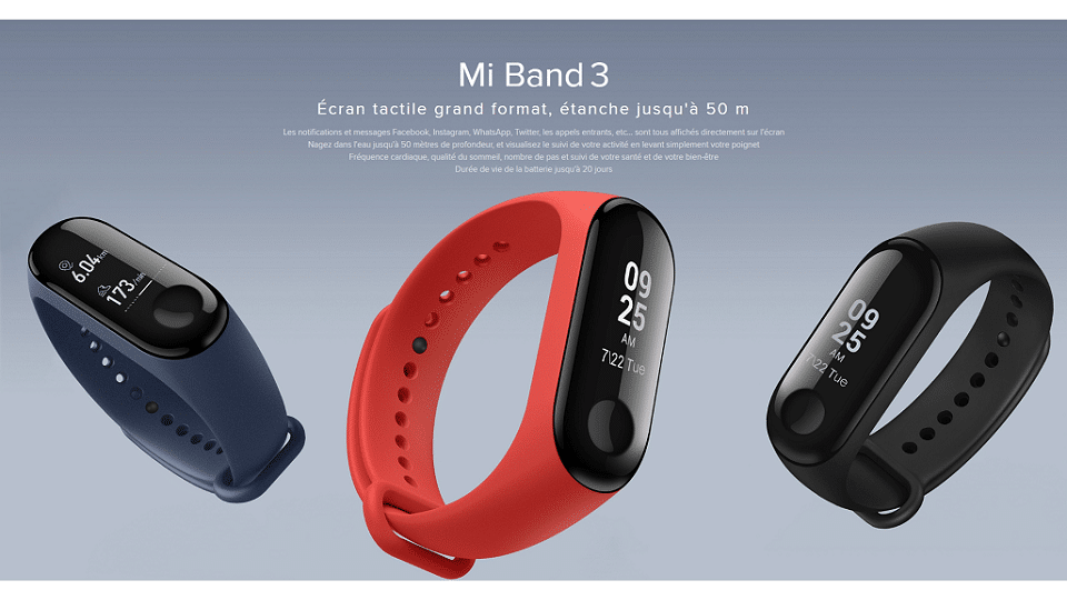 [Black Friday] Xiaomi Mi Band 3 à 18€