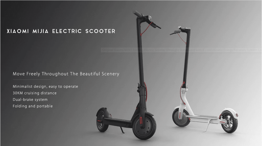 Trottinette électrique Xiaomi M365 à 328€ Version Europe